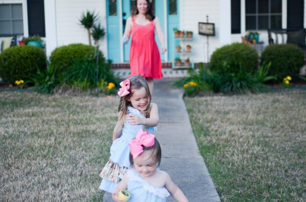 Seersucker Easter Dresses - What We Wore - Mommy-and-Me Easter Dresses - Easter Style - Toddler Style - Mommy-and-Me Style - The Gifted Gabber