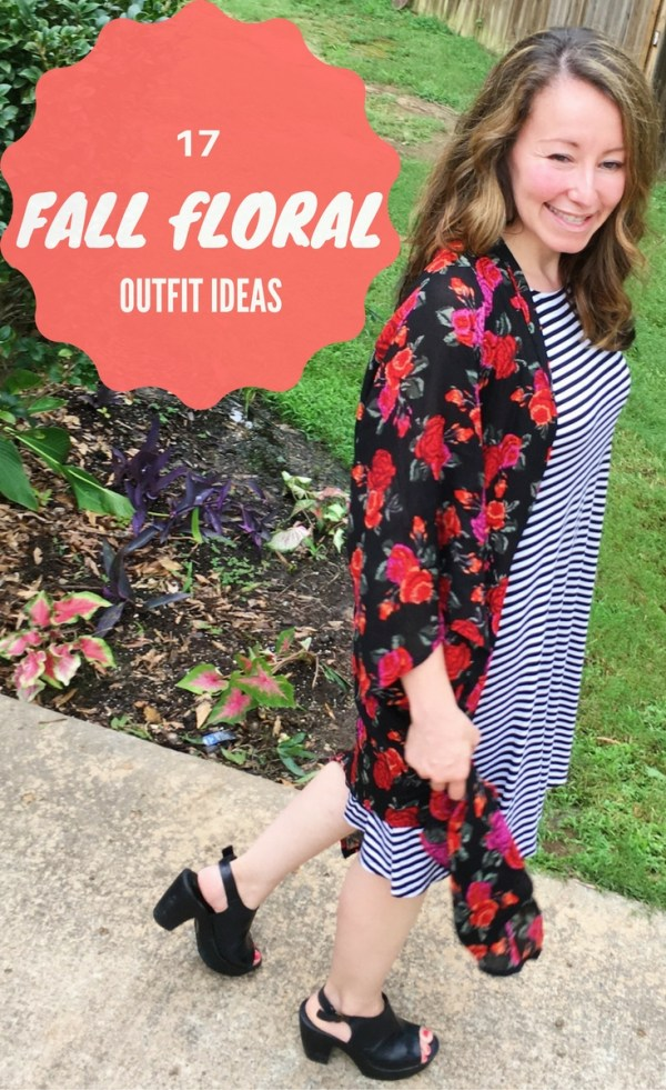A Pintastic roundup of lots of amazing fall floral outfit ideas - Floral Dresses - Floral Accessories - Floral Skirts - Floral Tops - Floral Blouses - Floral Scarf - Fall Style - Fall Fashion - Florals for Fall - Women's Style - Work Style - Street Style - #fallflorals #fallstyle The Gifted Gabber