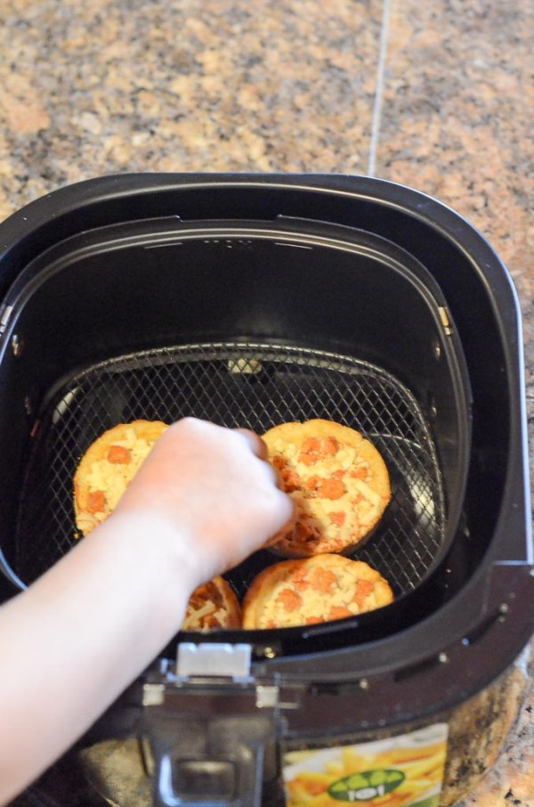 Frozen pizza in air fryer - Red Baron - The Gifted Gabber