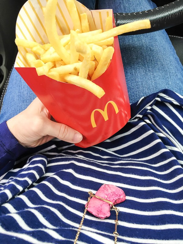 McDonald's french fries in lady's hand - A Look Back at My Time as McDambassador - The Gifted Gabber