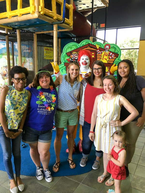 A group of bloggers at McDonald's - A Look Back at My Time as McDambassador - The Gifted Gabber