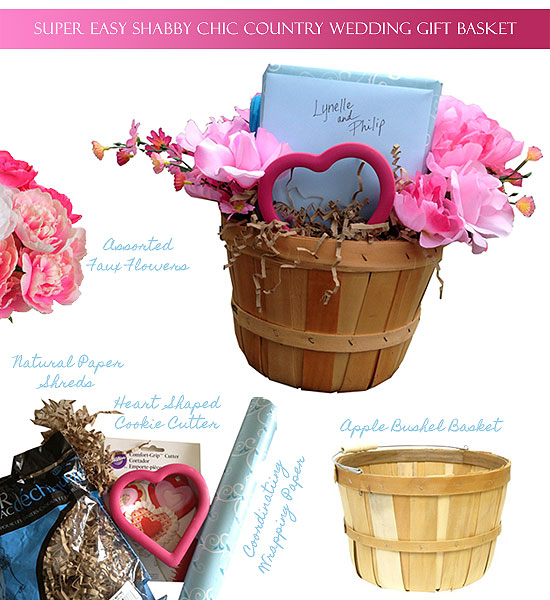 How To Wrap A Wedding Gift Basket : Gift Wrap 101: Super Easy Shabby Chic Country Wedding Gift Basket