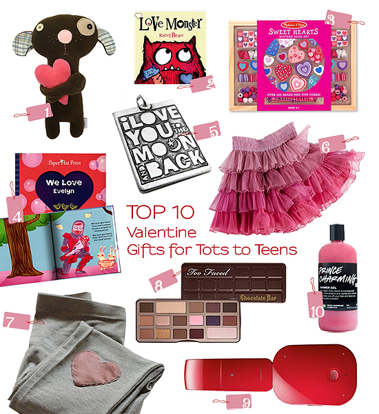 Best Gifts For Teen Girls 2016: Top 10 Thursdays: Valentine Gifts For Tots To Teens