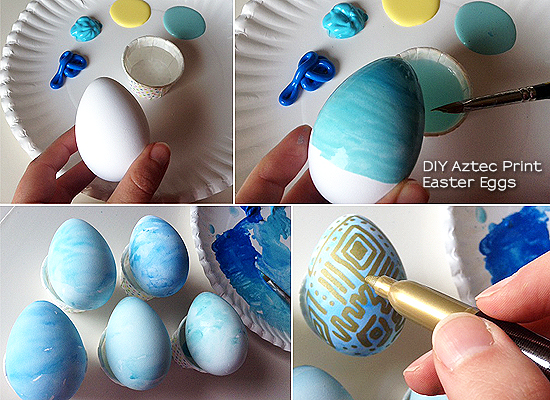 Fashion fridays diy aztec print easter eggs diywatercoloraztecprinteastereggs negle Choice Image