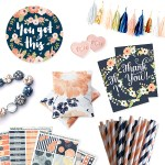 Spring Blooms… Vintage Peach and Navy