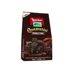 Loacker Quadratini -Double choco Bite Size Wafer Cookies 125g