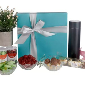 Insulated Flask, Table Plant & Dry Fruits Hamper