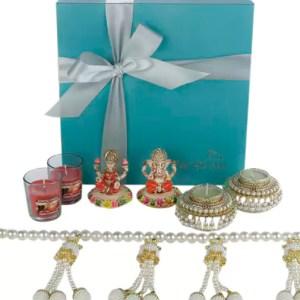 Diwali Hamper with Premium Toran, Ganpati and Candles
