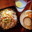Andhra mutton biryani made a bit parsi style @ Social Offline