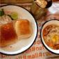 Hardys Bhai Istyle Breakfast - Steaming hot keema bhaji layered with fried egg served with bun maska, masala chai with khari biscuit and Parle G @socialoffline
