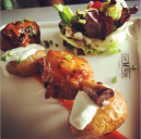 Barbecued chicken wings with baked potatoes @ Cafe Noir, UB City