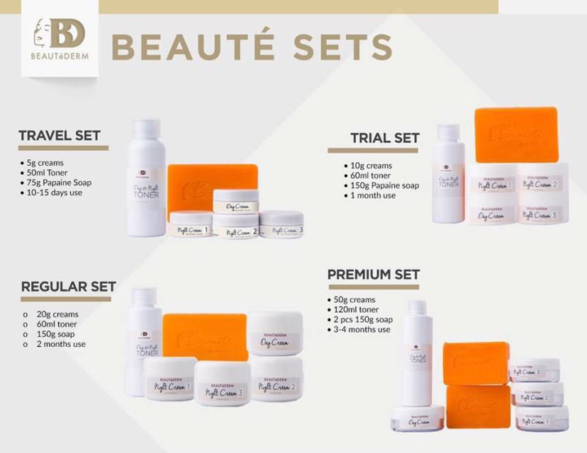 The four Beautederm Sets