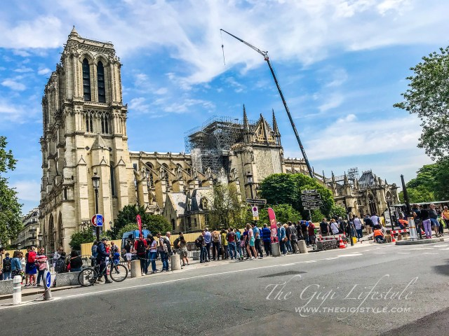 The restoration of the Cathedral of Notre Dame on-going