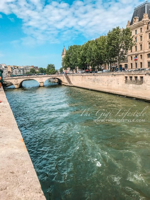 A Paris' first day view of the River Seine