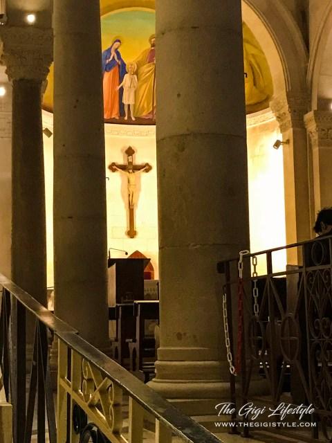 A glimpse of the St. Joseph Church altar