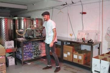 Distiller Liam in full swing