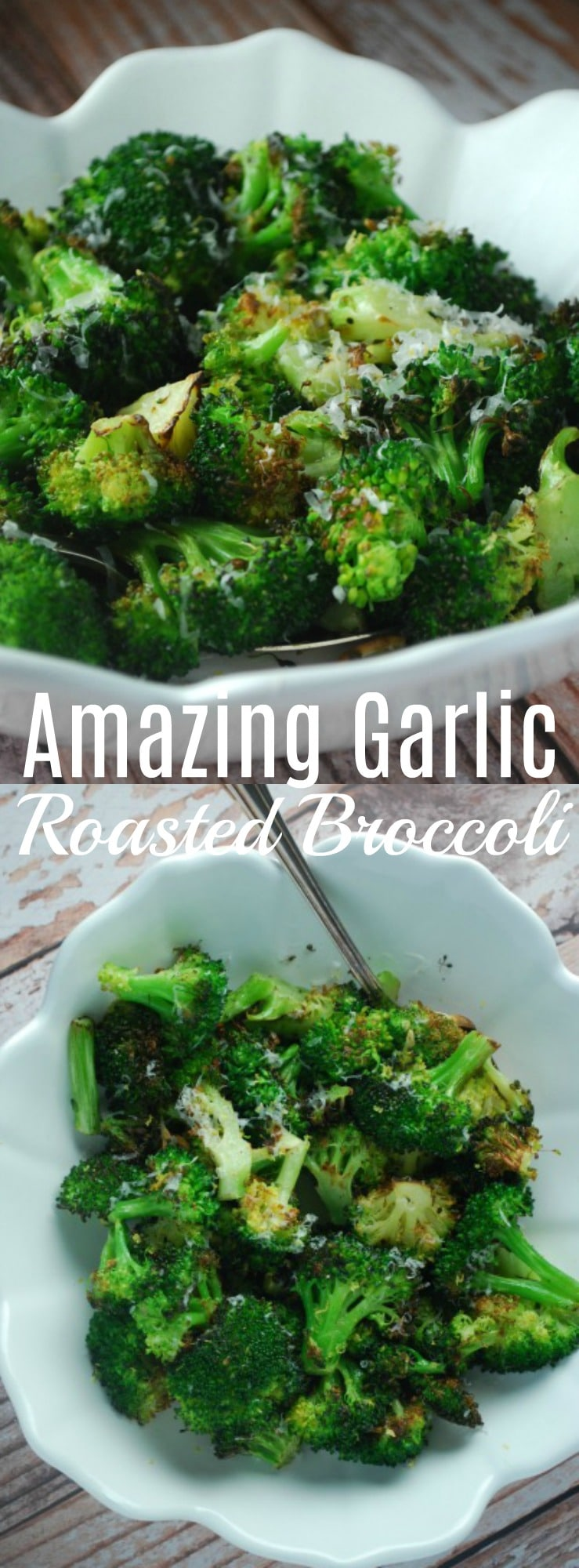 This simple roasted broccoli makes a fantastic and easy side dish that your family will love! Pairs great with everything! Side Dish, Easy Side Recipe, Garlic Roasted Broccoli, Broccoli Recipe, Healthy Side Dish, Family Friendly, Kid Approved Broccoli
