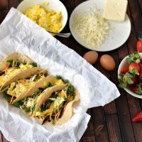 Roasted Vegetable Breakfast Tacos