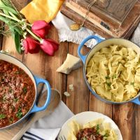 Quick Beef Ragu with Rustic Pasta for Princess Belle - Eat Like A Princess