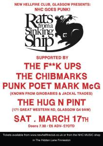 RFASS headline Hug and Pint in Glasgow on 17th March