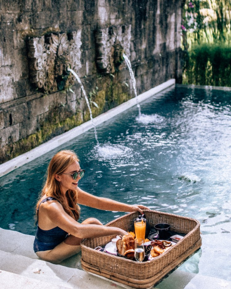 Bali Ubud Floating breakfast
