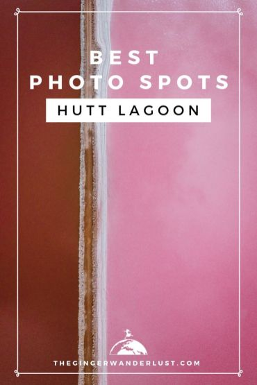 Find out the best photo spots of the Hutt Lagoon, the pink lake in Western Australia. I provide photos and maps to show you where to take the top instagrammable photos of the pink lake. As well as information on the best time to go and how to get there.