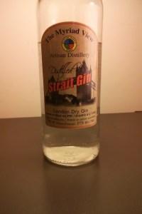 strait gin label