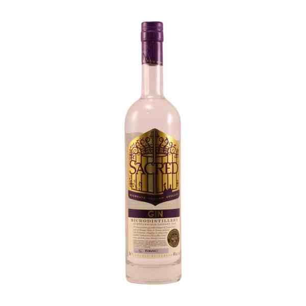 sacred gin bottle