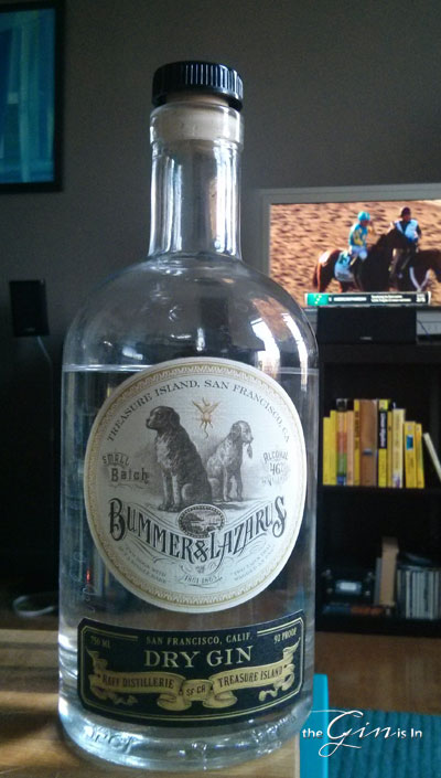 Bummer and Lazarus Gin (yes, I was watching the Belmont Stakes while doing this review)