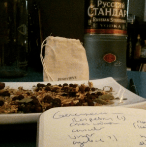 We took a closer look at the botanicals in the bag to see what was going into our gin.