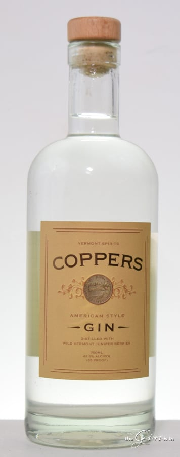 Vermont Spirits Coppers Gin Bottle
