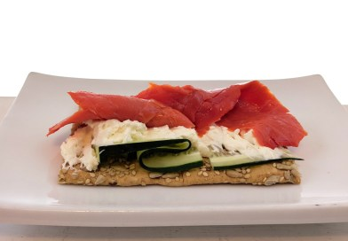cured salmon with cream cheese and cucumber on bread