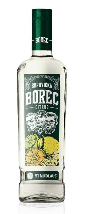 Borec Borovička Citrus
