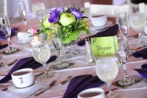 Reception table setting - Photo credit Rick Bacmanski Photo Artistry