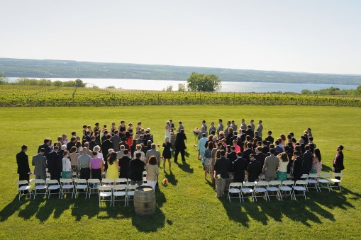 A wedding with a view – Photo credit Baker Photography