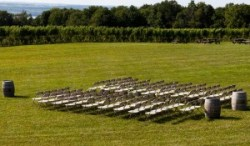 Lawn wedding setup - Photo Credit BJ Lord Photography