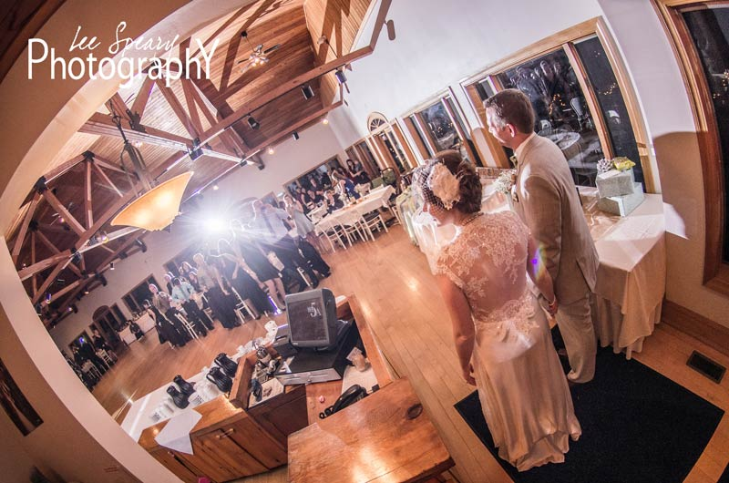 Couple being announced at reception
