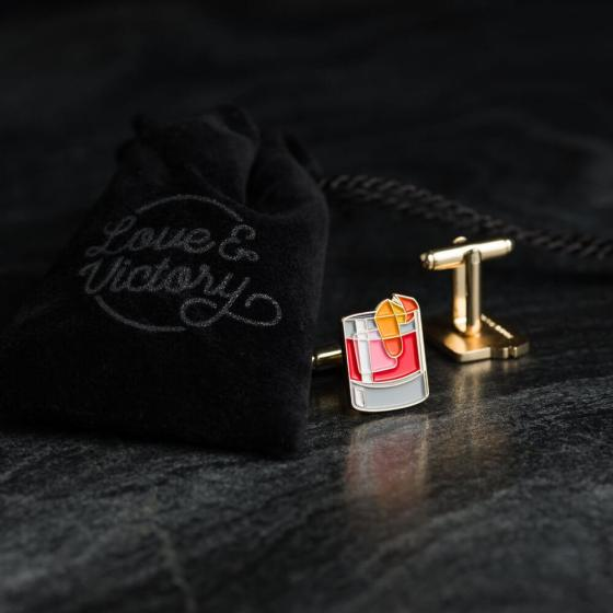 Love and Victory Negroni Cufflinks