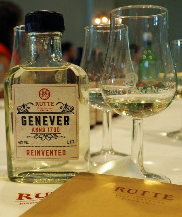 Genever from 1700 specially created by the distiller for the event.