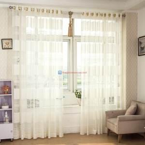 Rèm vải voan phòng khách đẹp