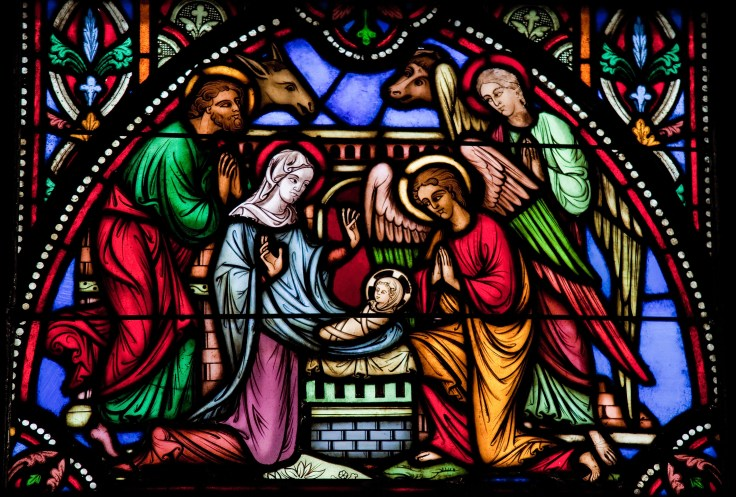 Nativity Scene - Stained glass window