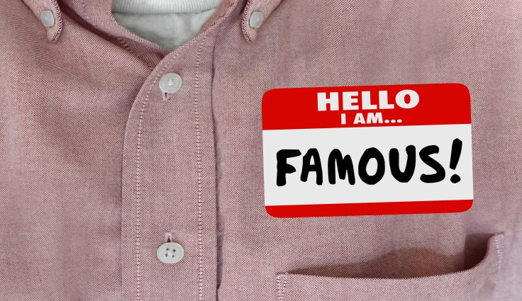 Famous Celebrity Hello Name Tag VIP Fame 3d Illustration