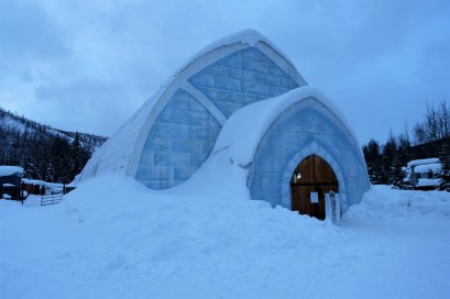 Chena Ice Hotel outside