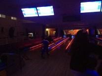 Night time ten pin bowling