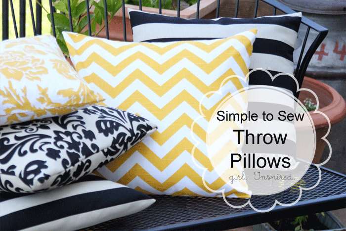 how to make a pillow simple sewing