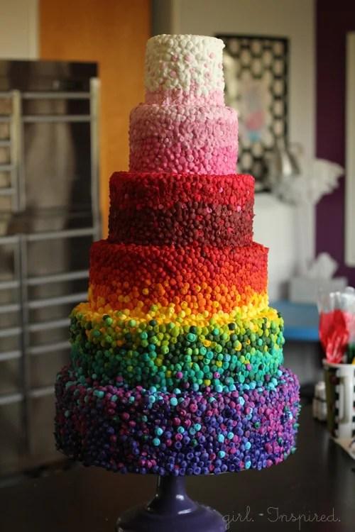 Rainbow Cake by Girl. Inspired.
