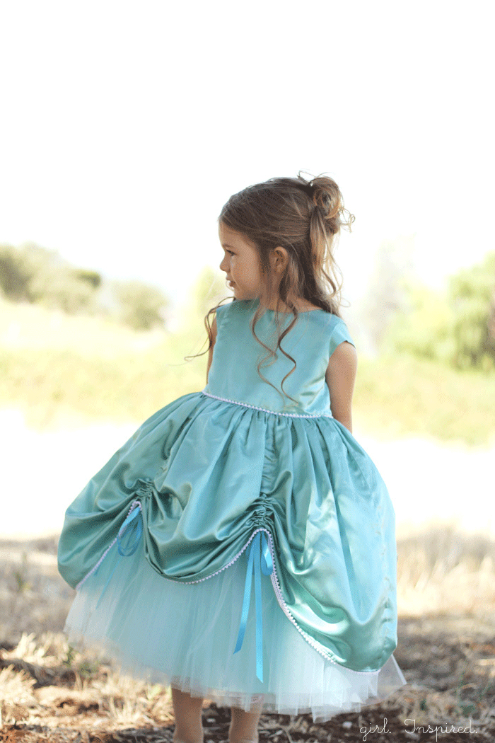 Princess Dress Sewing Pattern for sale at fiveandtendesigns.com