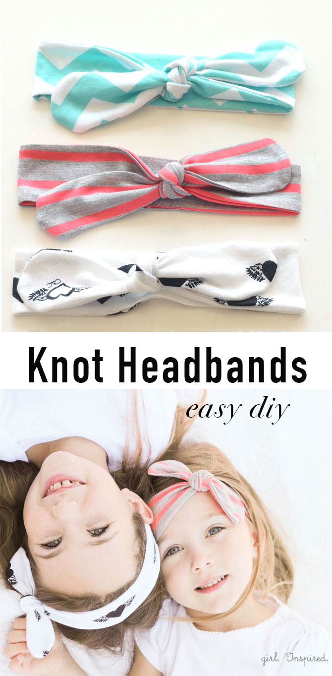 These DIY Knot Headbands are so simple and quick to make!
