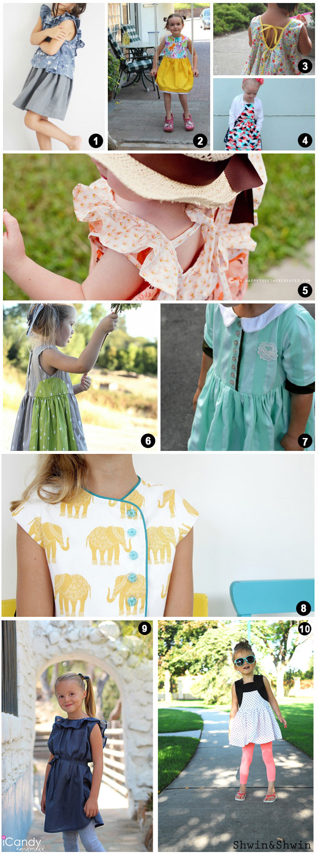 Dresses made from Five and Ten Designs Pattern Book