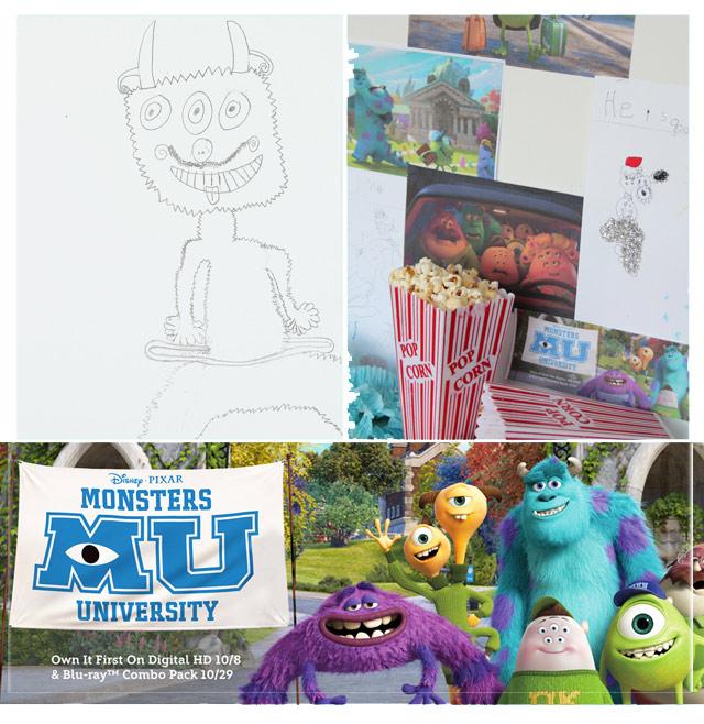 Monsters University Talent Activity for kids